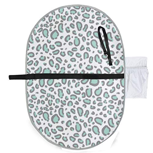 Urine pad Portable Diaper Changing Mat,Leopard Print Mint Grey Pastel Luxe Mattress Sheet Protector Pee Pads Urine Mat for Baby - Luxe Leopard