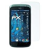 atFolix Panzerfolie für HTC One S Folie - 3 x FX-Shock-Clear stoßabsorbierende ultraklare Displayschutzfolie