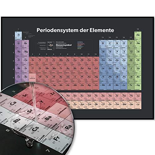 Periodensystem Poster| Periodensystem der Elemente| Chemie System als XXL-Poster DIN A1 | Wasserdichtes Premium-Papier (Dark) (Erhalten Sie Es Zusammen Tshirt)