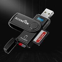 USB 3.0 SD Kartenleser, Rocketek Hochgeschwindigkeits SD/Micro SD Kartenleser Speicher Karten Adapter mit Micro SD…