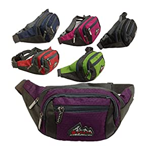 51%2BBldo8f0L. SS300  - SKYSPER Bumbags and Fanny Packs 3 Zip Pockets Nylon Waist Bag For Women Men, Ideal for Travelling Hiking Fishing