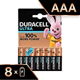 Duracell Ultra Power Piles Alcalines Type AAA, Lot de 8 Piles (Visuel non Contractuel)...