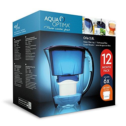 comprare on line Aqua Optima EJ0659 Brocca e Filtro Cartucce, Blue, 26 x 11 x 25 cm prezzo