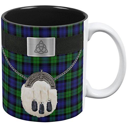 Old Glory St. Patricks Tag Kilt Black Watch Scottish Kostüm alle über Kaffeetasse weiß-schwarz Standard eine Größe