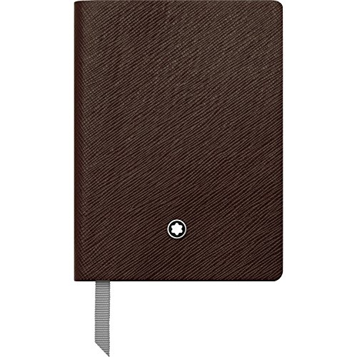 Montblanc Notebook 113597 Fine Stationery #145 Tobacco / Elegant Soft Cover Journal / Lined Notebook with Leather Binding / A7