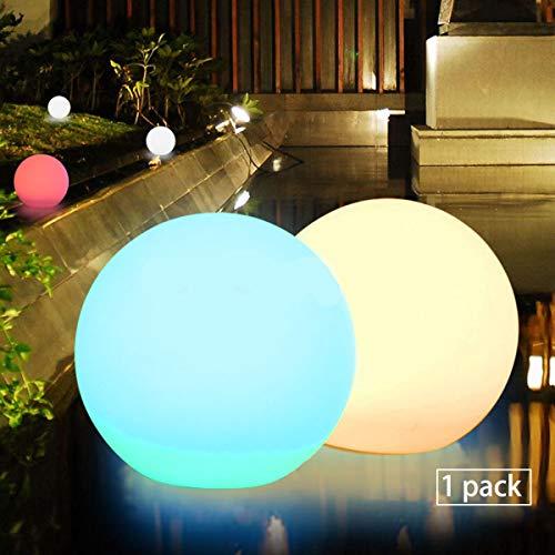 Obell - Luces LED flotantes, 30 cm, con luz solar, 10 RGB, de color cambiante para el aire libre, impermeables, para jardín, lámparas de fiesta, de piscina, PE, 30,48 cm (12 pulgadas) 1.20volts