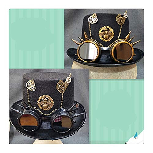 Z-one 1 Vintage Lolita Gear Schmetterlinge Kette Mini Top Hut handgemachte Gothic H¨¹te f¨¹r M?dchen Party Halloween Haarschmuck