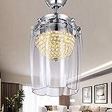 Liuyu · Led Crystal Unsichtbare Schlafzimmer Wohnzimmer Fan Lichter Restaurant Fernbedienung Ultra-stille Fan Licht 42 Zoll (größe : Remote Control)
