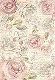 Motiv-Strohseide-Shabby-Rose