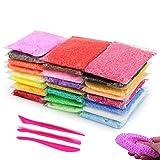 BESTZY Fluffy Slime Kit - 24 Colores Mágica Arcilla de Espuma con 3...