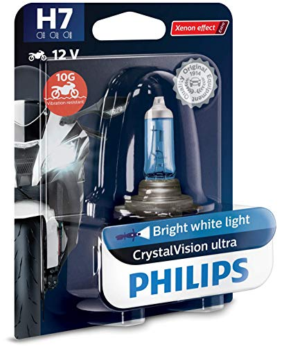 Philips automotive lighting 12972CVUBW CrystalVision Ultra H7 Lampada fari per Moto, 1 Pezzo