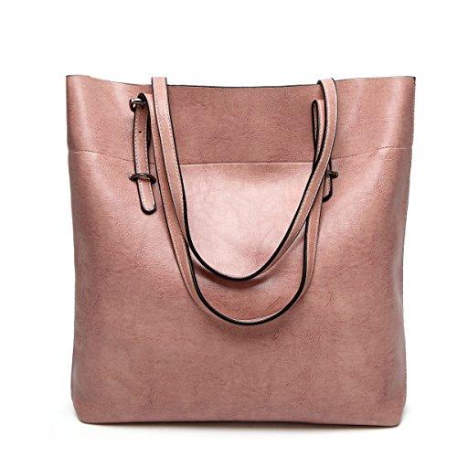 Mode Einfach Umhängetasche Diagonales Paket Mädchen Party Retro Damen Mode Lässig Handtaschen Große Kapazität Damen Tasche Pink