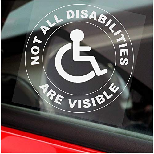Autocollant handicapé rond « Not All Disabilities Look like ThisAre visible » pour camion, bus, taxi, véhicule