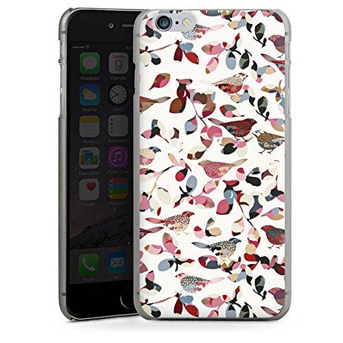 Apple iPhone 5s Housse Étui Protection Coque Oiseaux Printemps Motif CasDur anthracite clair
