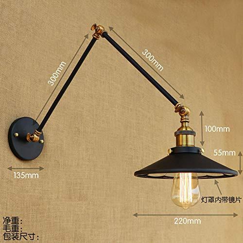 Loft Swing Arm (IWHD Swing Long Arm Wandleuchten Home Lighting LED Edison Loft Industrielle Wandleuchte Wandleuchte Lampara Pared@1_0-5W)