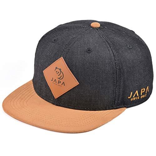 Japa Panda Snapback Cap Herren Damen Trucker Baseball (Schwarz)