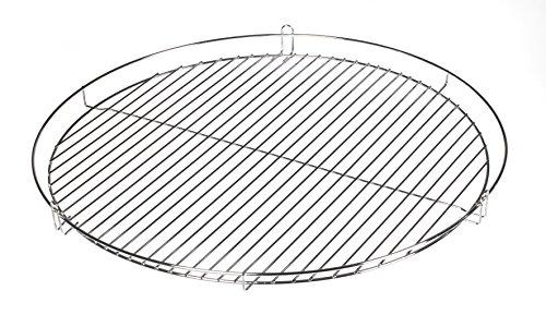 Chrom Grillrost Grill Rost Grillgitter rund, zum Aufhängen, Dreibein, Schwenkgrill (70 cm)