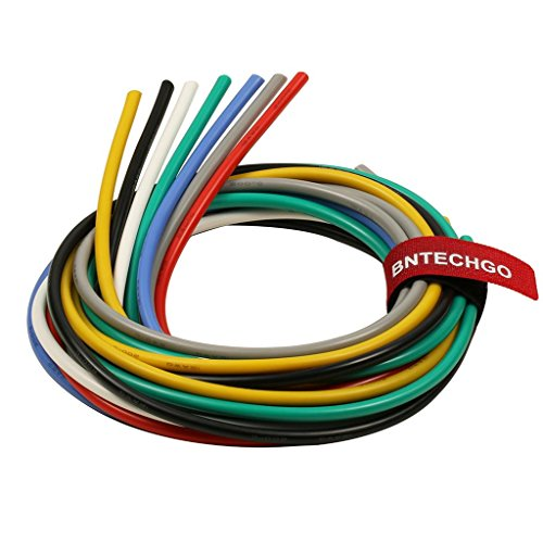 BNTECHGO 12 Gauge Silicone Wire Kit Ultra Flexible 7 Color High Resistant 600V 200 deg C Silicone Rubber Insulation 12 AWG Silicone Wire 680 Strands of Tinned Copper Wire Stranded Wire Battery Cable -