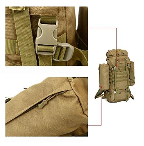TaoMi- Outdoor Rucksack - Schulter große Kapazität Bergsteigen Tasche Sporttasche Schwarz