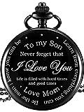 Taschenuhr - to My Son Gifts - Mutter Sohn Geschenke, Geburtstag Graduierung Geschenk, Kindertag, Geschenk-Box