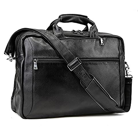 "Tiding Unisex Genuine Leather Messenger Multipurpose Handmade Travel Duffles Outdoor School Office Bag Backpack 17"" Laptop Business Briefcase"
