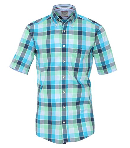 Michaelax-Fashion-Trade - Chemise business - À Carreaux - Manches Courtes - Homme Blau (962639500/100)