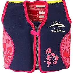 Konfidence Original - Traje de baño, color Rosa (Pink Hibiscus), talla UK: L/6-7 años