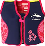 Die original Konfidence Unisex-Kinder Schwimmweste,  Mehrfarbig (Navy/Pink/Hibiscus), 4-5 Jahre