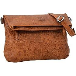 """Gusti Cuir studio """"Scarlett"""" sac à main sac à bandoulière sac shopping sac de loisirs sac de soirée homme femme cuir de buffle marron clair 2H24-20-16"""