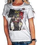 Stylotex Damen/Girlie T-Shirt So sehn Sieger aus Guy Belgien Belgium, Farbe:Weiss;Größe:L