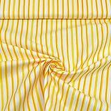 MAGAM-Stoffe Lotta Streifen gelb Baumwollstoff Oeko-Tex