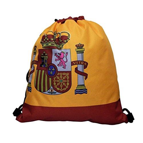 Hanessa Länder Jutebeutel Spanien Art Kunst Motiv Aufdruck Sportbeutel Tüte Rucksack Beutel Tasche Gym Bag Gymsack Hipster Fashion Sport-Tasche Einkaufs-Tasche