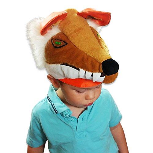 r - Fuchs Kostüm Kinder (3-8 Jahre) - Fuchs Kopfbedeckung Fuchs Mütze - Slimy Toad (Toad Kostüm Hut)