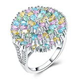 Best Aooaz Friends Unisex Rings - Aooaz Jewelry Ring Women's Hollow Round Multicolor Stone Review
