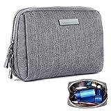 MICHETT Kulturtasche für Männer und Damen Wasserdicht leichte Make Up Tasche Organizer Reisezubehör Kosmetiktasche für Badezimmer und Schminktisch (Grau)