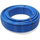 BiBa-Schrauben | 26 x 3,0 mm - 6 mm 25 m | Aluminium Mehrschichtverbundrohr isoliert blau | (1 Stück) | DVGW Zulassung | Alu | Pressfittings | Schraubfittings | Kunststoff| Pipetec