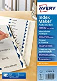 Best Avery Dividers - Avery IndexMaker Divider Set Polypropylene 5-Part Clear Ref Review