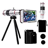 Yarrashop®iPhone Lens, Professional HD Camera Lens , 18x Aluminum Telephoto Manual Focus Telescopic Optical Lens for iPhone 7/7 Plus, iPhone 6/6plus, iPhone 6s/6s plus,iPhone 5/5s(iphone telephoto lens)