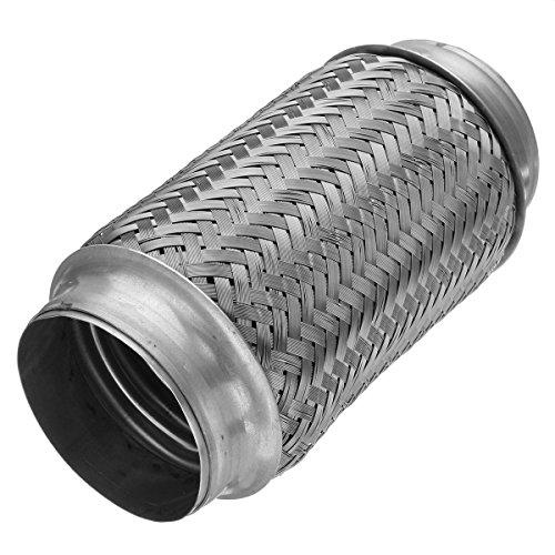 YONGYAO 3x8 inch Flex Rohr Auspuff Edelstahl Doppel Geflecht Heavy Duty Kupplung Rohr -