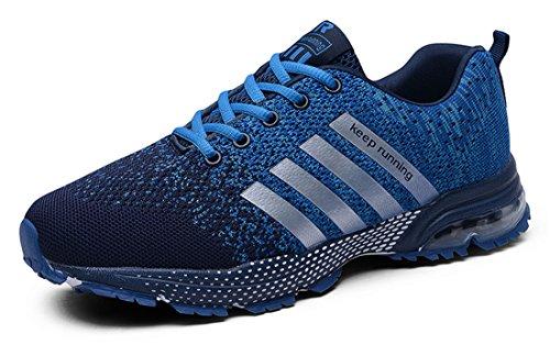 AIRAVATA Damen Herren Laufschuhe Sportschuhe Turnschuhe Trainers Luftkissen Running Fitness Atmungsaktiv Sneakers