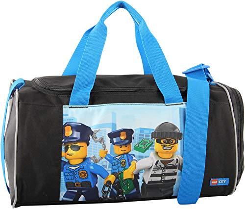 LEGO Bags Sporttasche mit Nassfach, Reisetasche für Kinder, Schulsporttasche mit Lego City Motiv Police Chopper, Tasche ca. 39 cm, 17 Liter