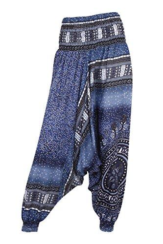 Aladdinhose–Harems-/ Hippie-Hose - Bubbles Grey/Blue