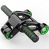 ZHANGYUSEN Vier Wheeles Abdominal- Power Wheel Muskel Übung Abs Roller Home Gym Training Trainieren Bauch drücken Rad Sport Riemenscheibe Walze
