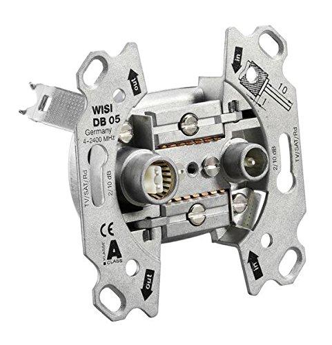 Preisvergleich Produktbild Busch-Jaeger 0231-101 Antennensteckdosen-Einsatz Radio / TV / SAT 2 Anschlüsse / Durchgangsdose 0231-101