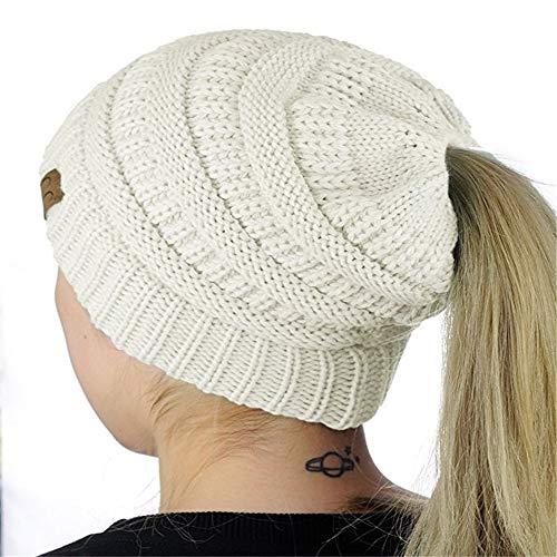 hat-maihef Neue europäische und amerikanische populäre gestrickte Horsetailhüte Wilde Art und Weisehüte der Frauen