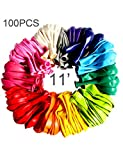 BABYJOYBALLOONS 11' assorted color latex balloon for party decoration, 100 pieces (assorted color)