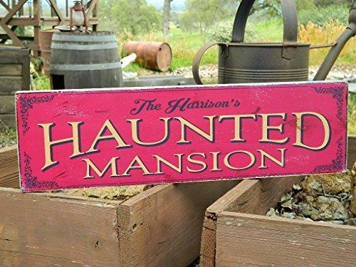 Norma Lily Man Cave Country Primitiv Distressed Schild Schild aus Holz Print 18,4x 61cm Ihren Namen Haunted Mansion Halloween-Schild
