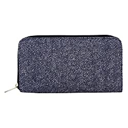 Anekaant Woolly Blue Canvas Wallet