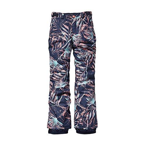 O'Neill Mädchen Kinder Snowboard Hose Charm Slim Pants Girls, Blue AOP w/pink-Purple, 152 - Slim Snowboard