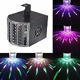 KINGSO 6W LED Lichteffekt Licht Disco RGB Stimme Aktiviert Licht Mini Bühnen Licht Bunt Bühnenbeleuchtung DMX512 für Disco KTV Party Hochzeit Bar Tanzen